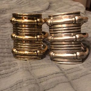 2 cuff bracelets by House of Harlow